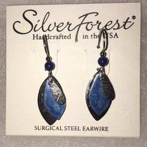 Silver Forest Handcrafted in the USA Silver & blue